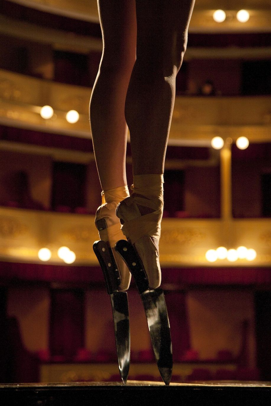 Ballerina with daggers
