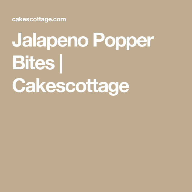 Jalapeno Popper Bites | Cakescottage