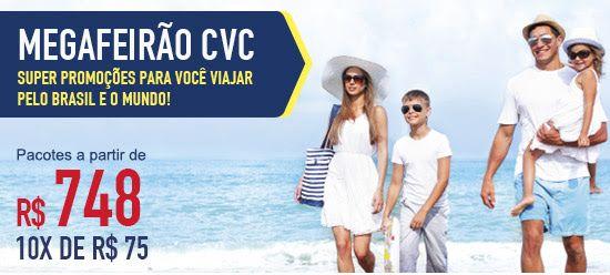 A CVC está fazendo esse fim de semana mais uma MEGA FEIRÃO CVC. Super promoções para você viajar pelo o Brasil e pelo Mundo!…