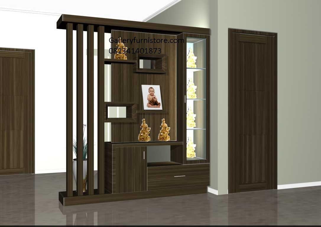 Foyer Modern Minimalis : Jual partisi sekat ruang tamu minimalis natural melamine