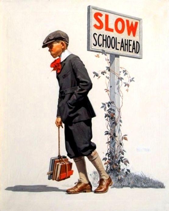 Brehm, George (b,1878)- Boy Trudging To School