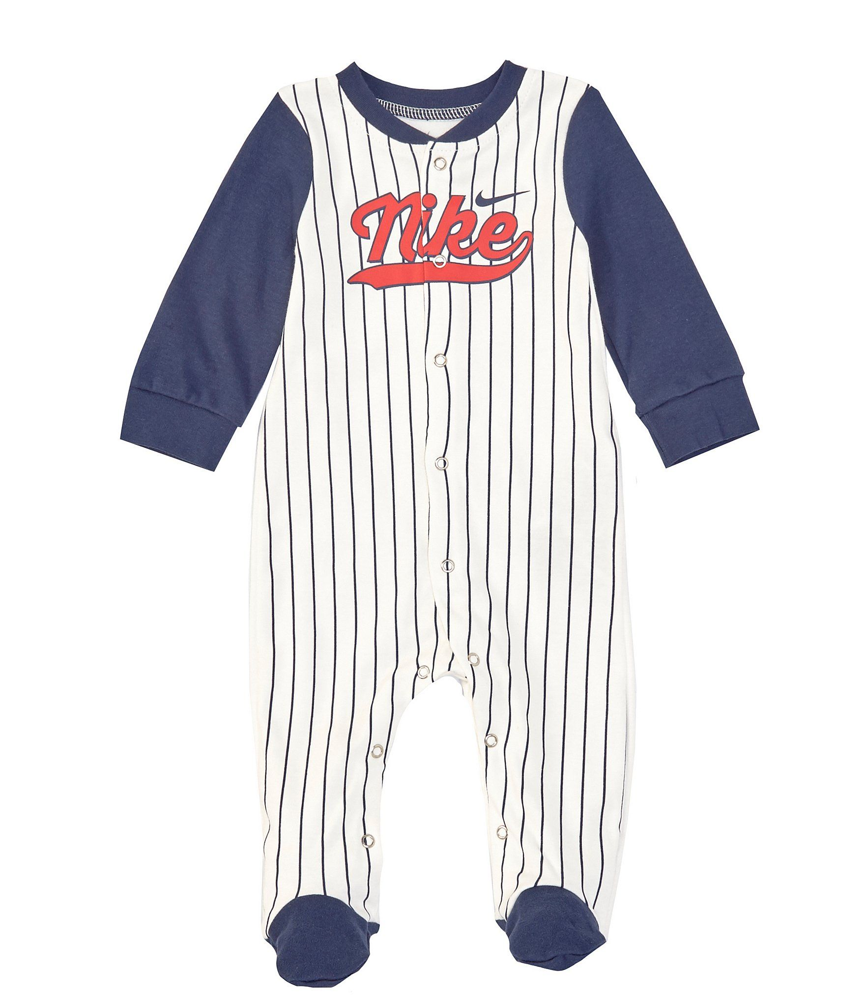 Photo of Nike Baby Boys Newborn-9 Months Striped Baseball Footed Coverall | Dillard's