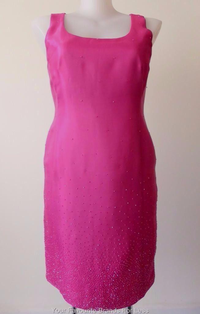 Lounge Australia Size 16 US 12 Sleeveless Pink Sheath  Dress