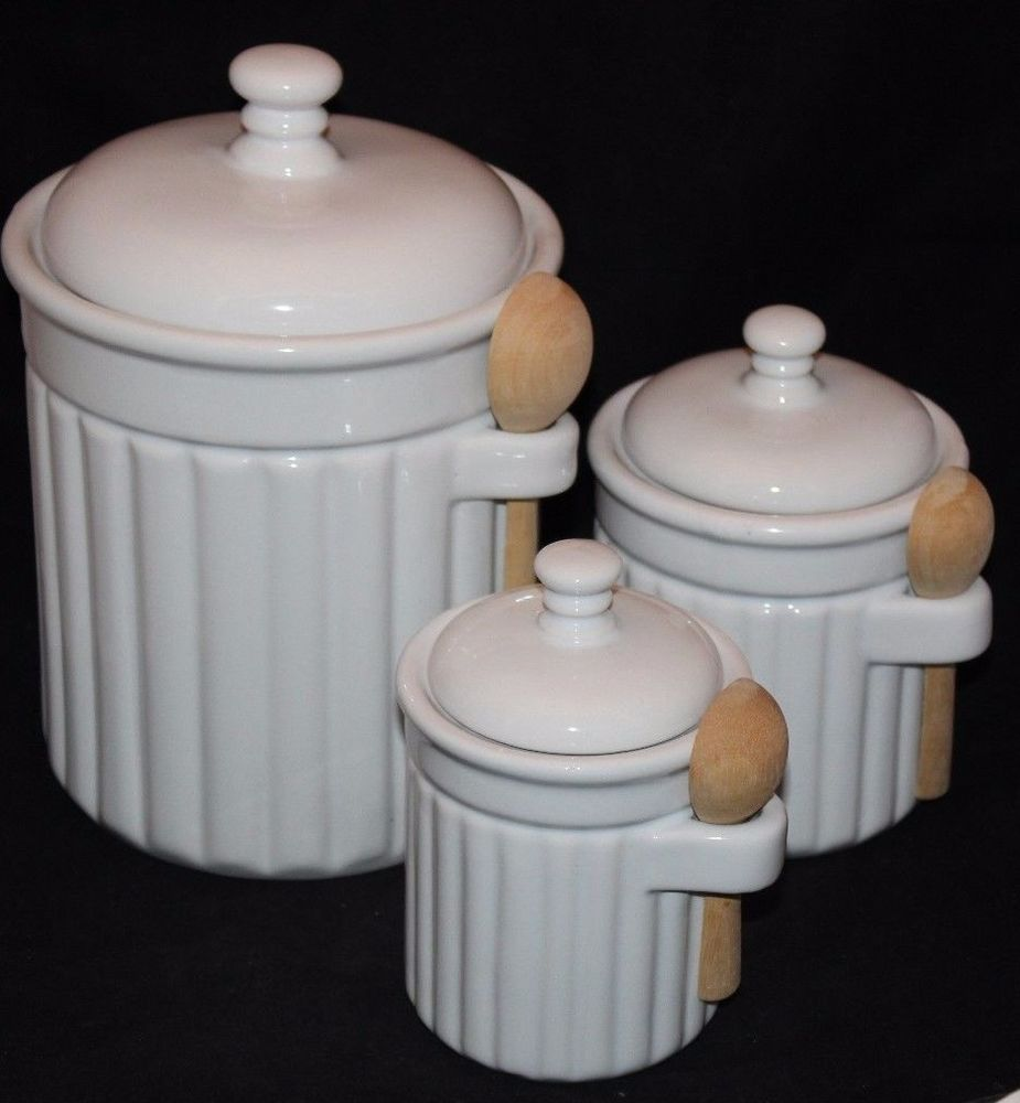 Coffee Canister Set Condiment Jars W