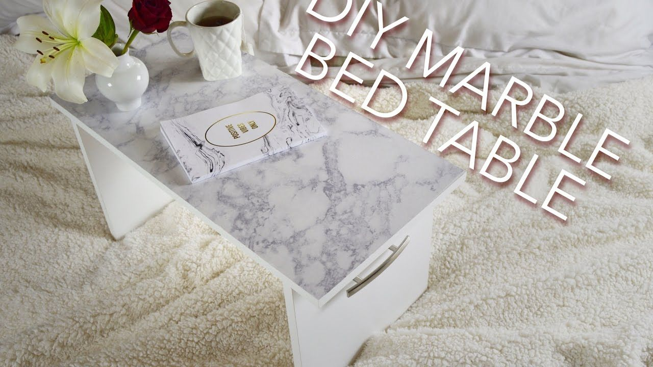 DIY YouTube Video Tutorial Marble Bed Table Home Decor