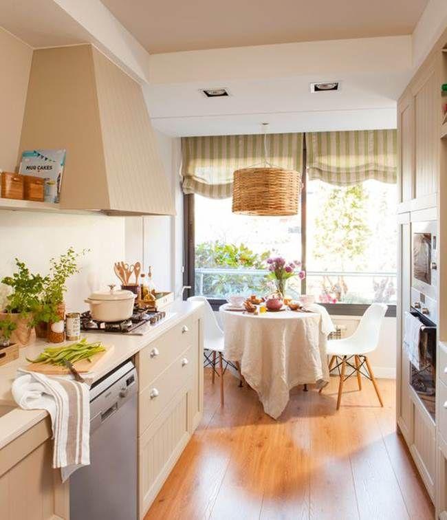 Cocina y comedor en uno | Mesa redonda, Mesas y Cocinas