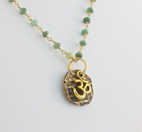 Inspiration Necklace for Happiness and Peace by IntentionGems, $50.00