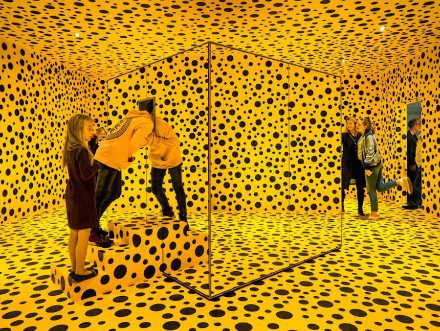 Yayoi Kusama's Infinite PolkaDots Installation