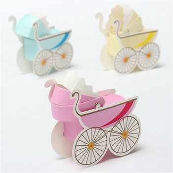 Wedding Candy Box Stroller Shape Party Wedding Baby Shower Favor Paper Gift  Boxes Event U0026 Party
