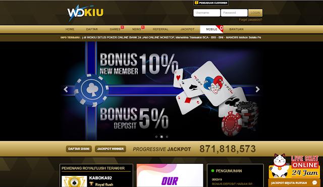 Situs Agen Poker Terpercaya Bank Bri 24 Jam Tanpa Offline Poker Uang Permainan Kartu