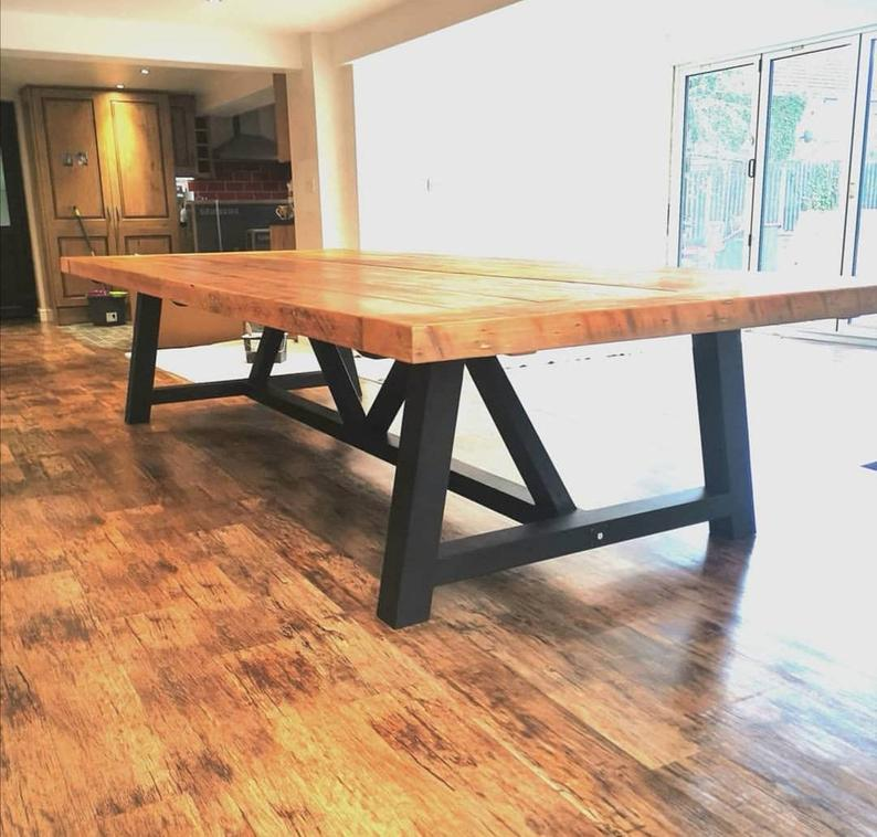Rustic Farmhouse A Frame Dining Table Etsy Dining Table Pine