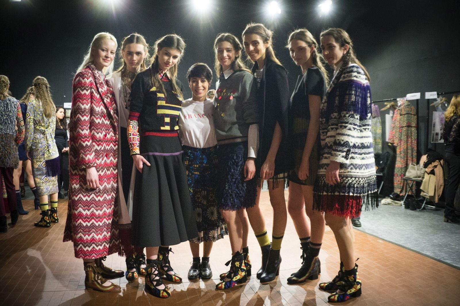 Shooting time! #Miahatami fashion show at #Altaroma #fashionhub #Franca❤ #VogueItalia