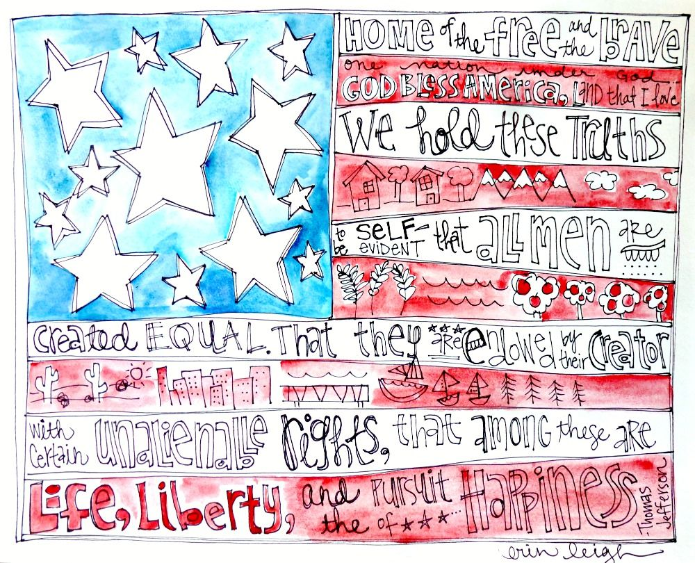 American Flag Art Love for you