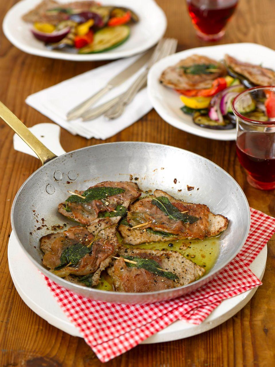 Saltimbocca mit buntem Grillgemüse Foto © Maike Jessen für