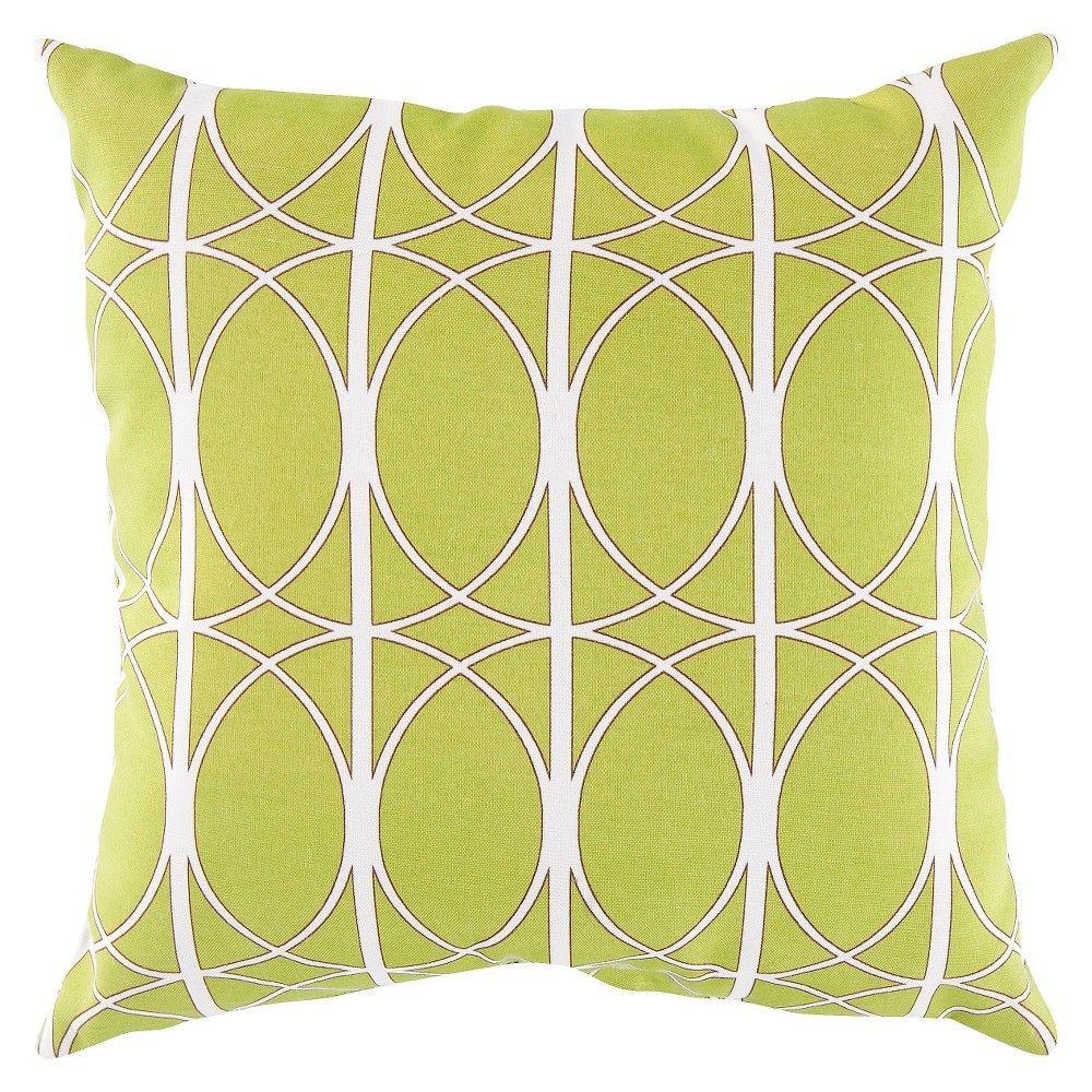 Lime green storm throw pillow