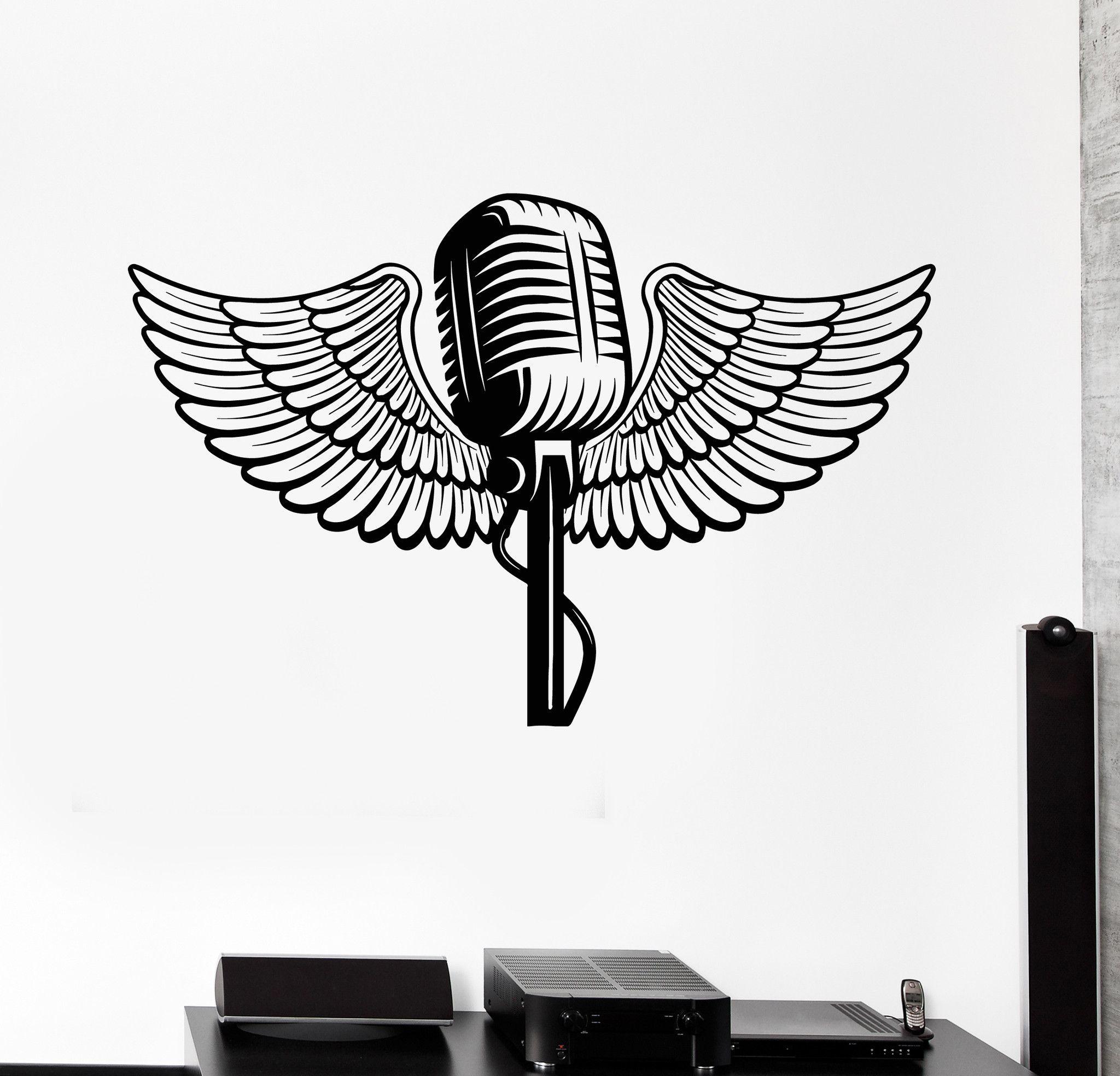 Картинки микрофона с крыльями