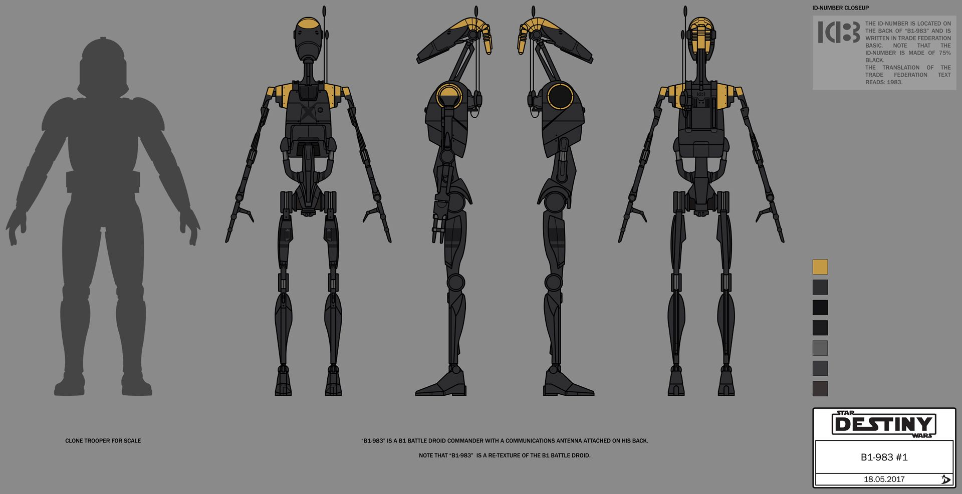 Concept Art / Character Design B1 Battle Droid (Concept Art)   Star