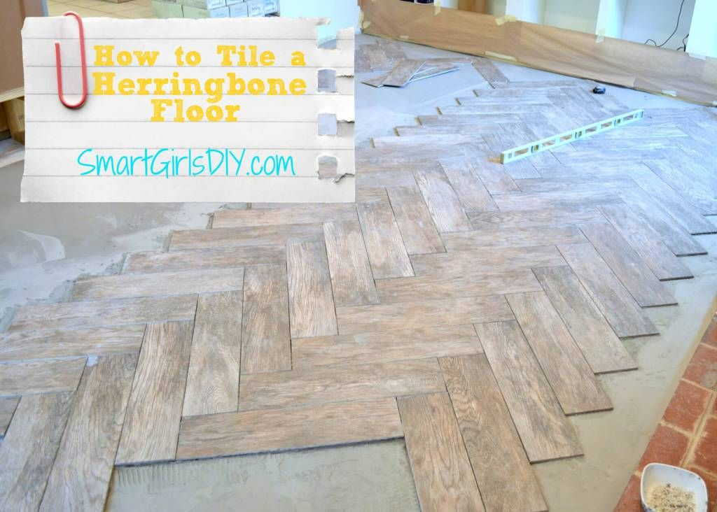 how to tile a herringbone floor yourself home sweet home. Black Bedroom Furniture Sets. Home Design Ideas