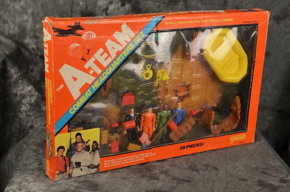 Vintage Galoob 1983 The A-Team Combat Headquarters Set 100