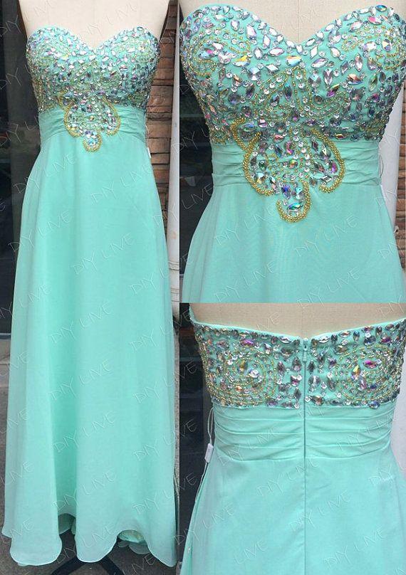 Custom Made Prom Dress,DIY Prom Dress Beaded Prom Dresses,2014 Prom ...