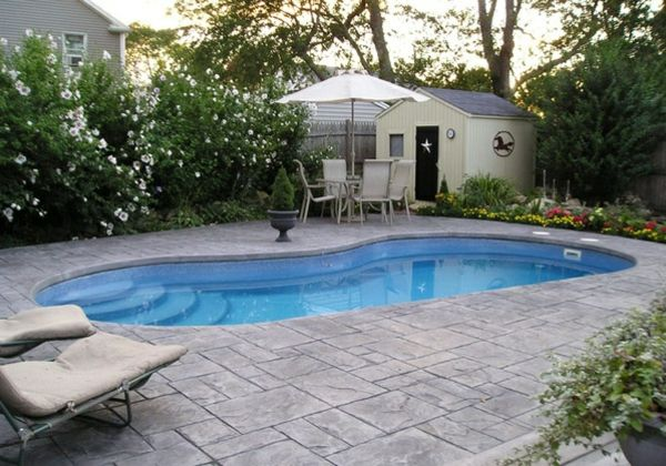 pool im garten - 20 nierenförmige schwimmbecken, Terrassen ideen