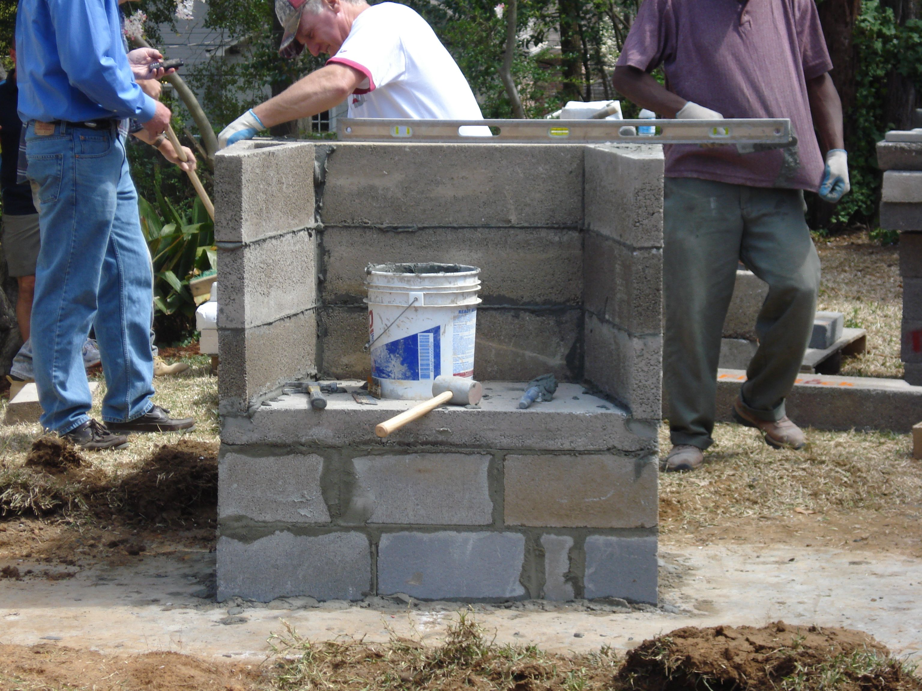 easy build outdoor fireplace - Google Search