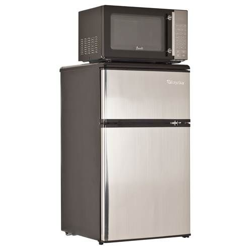 Edgestar Energy Star 3 1 Cu Ft Refrigerator And Microwave Combo College Dorm College Dorm Rooms Tiny House Furniture
