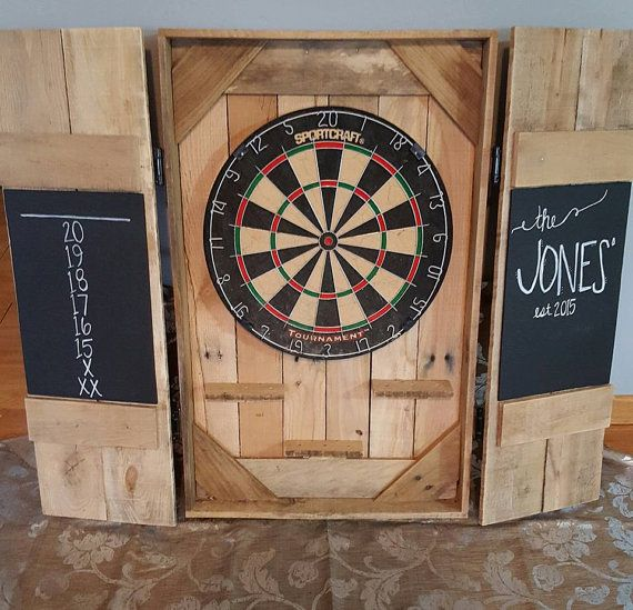 Dartboard Cabinet Dart Board Backboard Dart By RESnerREStoration