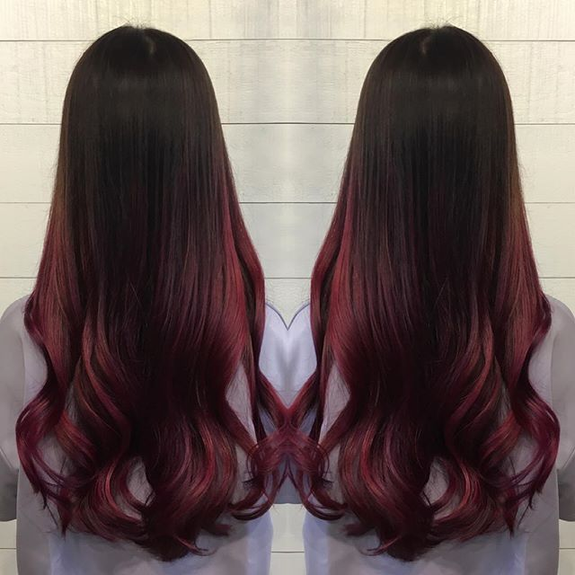 Silky Maroon Hair Color With Images Maroon Hair Colors Maroon