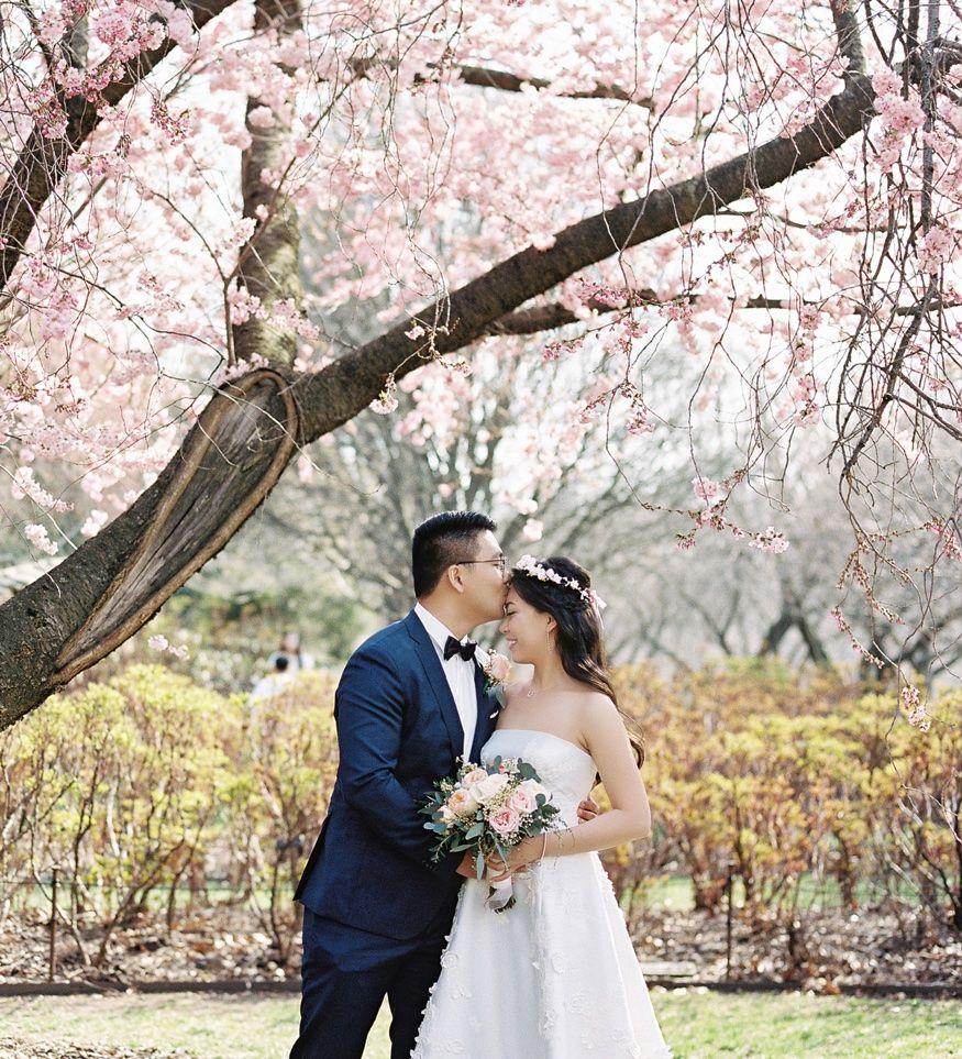 Brooklyn Botanic Garden Wedding Spring Cherry Blossoms