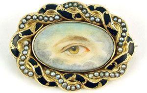 Eye Miniature brooch
