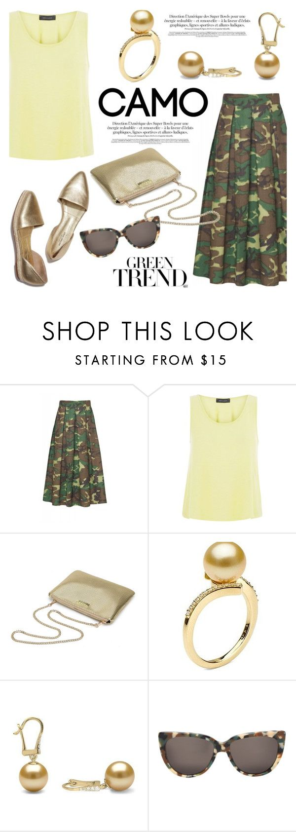 """""""Go camo!"""" by pearlparadise ❤ liked on Polyvore featuring Department 5, New Look, Prism, contestentry, camostyle, pearljewelry and pearlparadise"""