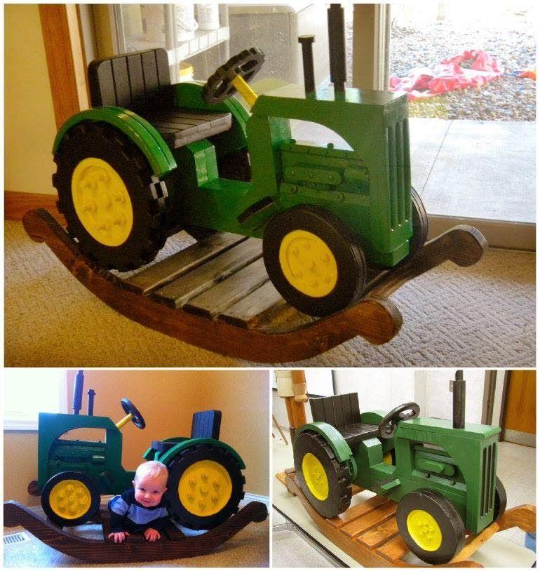 Ideas Products John Deere Rocking Tractor John Deere - John deere idees de decoration de chambre