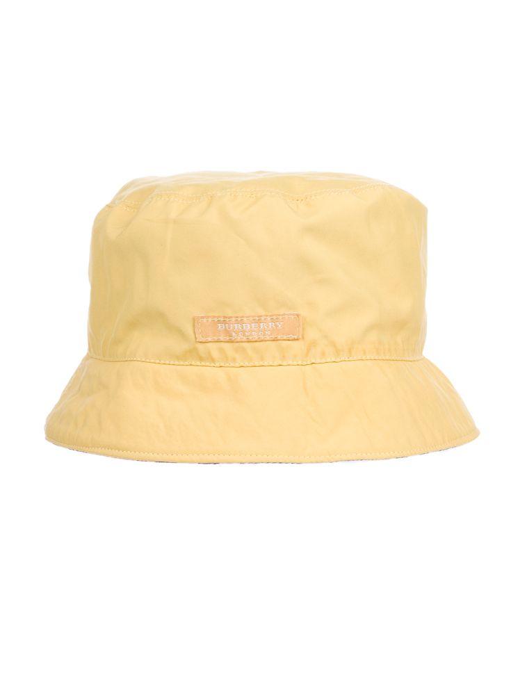 a4a33f47051 Burberry Rain Hat Nova Check and yellow reversible rain hat Price   50.00