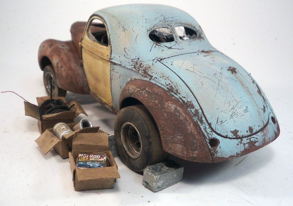 1941 Willys Coupe Pro Built Weathered Barn Find Gasser Drag Custom 1 25 Revell Scheune FindetModellautoModelleSlot CarsKraftfahrzeug