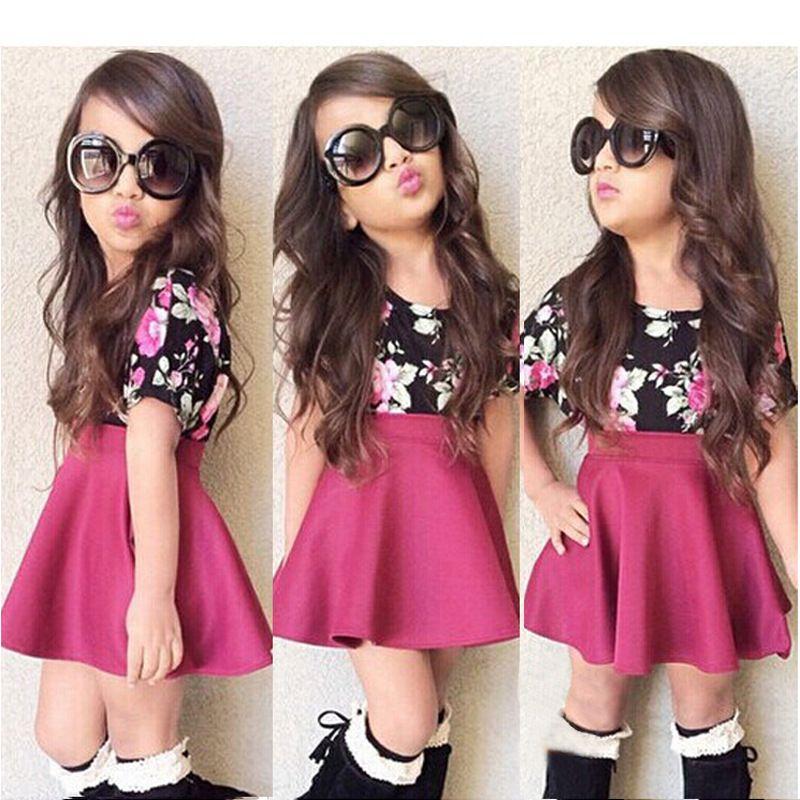 moda de niñas de verano con chor y camisas cortas - Buscar ...