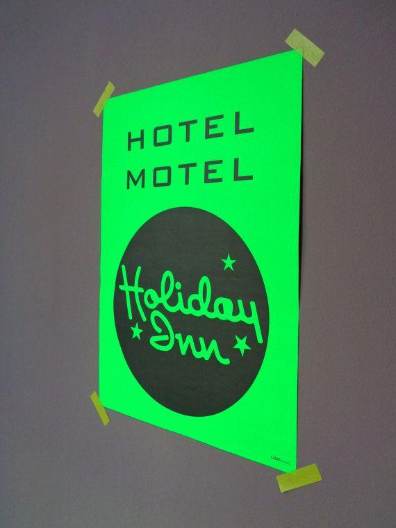 Fluor Groene Poster Hotel Motel Holiday Inn Door Casasderooij Www