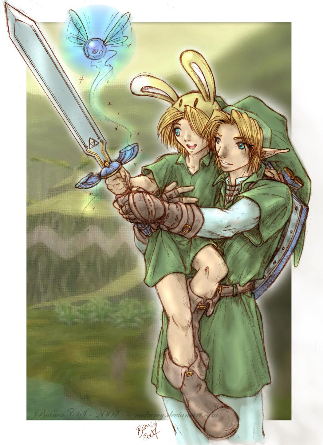 Awe!!!!!!!! Little Link and Big Link!!!!!!!! So cute