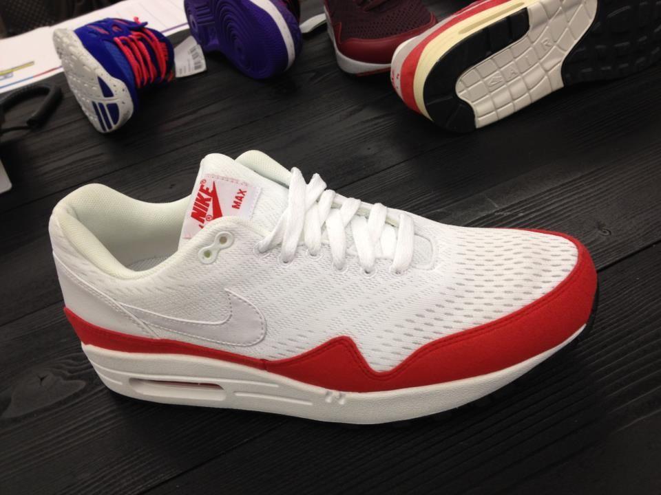 355361a0d4e3 Nike Air Max 1 - Engineered Mesh - White Red