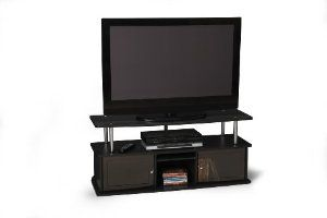 Convenience Concepts 151202 Tv Stand With 3 Cabinets For Flat