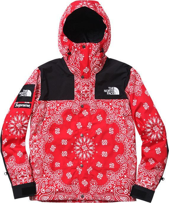 e9489fd882fe Supreme X North Face Red Bandana Jacket Flawless quality and warm for cold  days. Made from cotton, polyester and nylon with a 100% cotton lining.