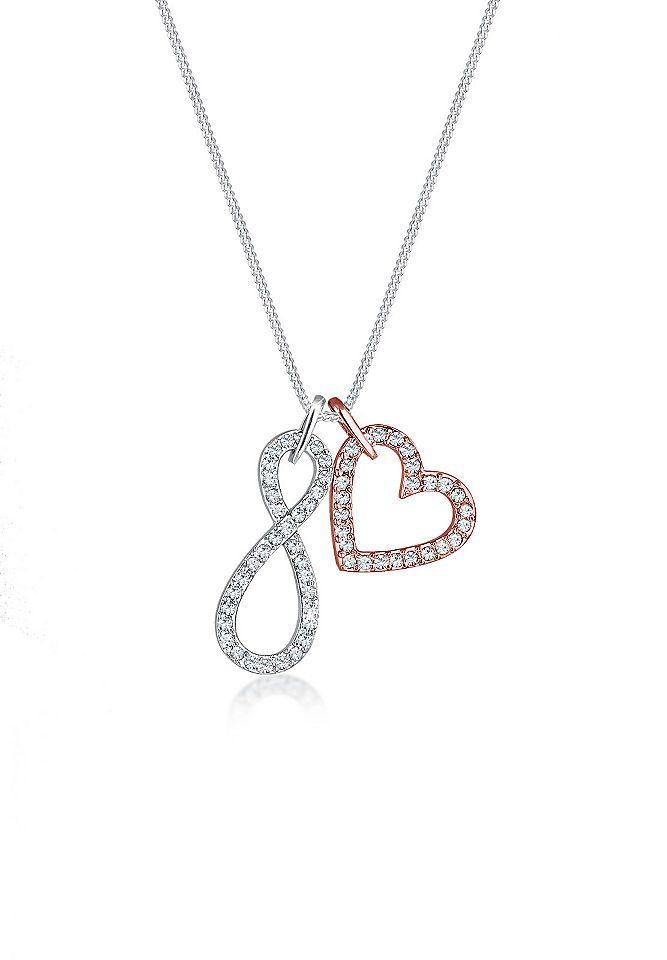 Halskette twist pendant mit swarovski kristall