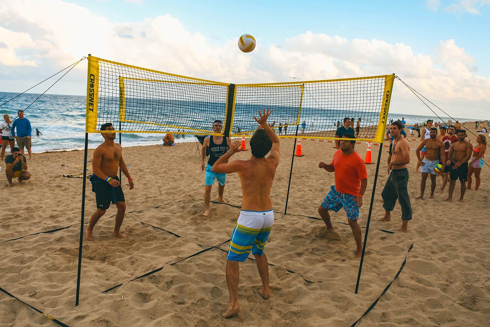 2020 Hot Summer Sale Cross Volleyball Net In 2020 Volleyball Net Volleyball Four Square