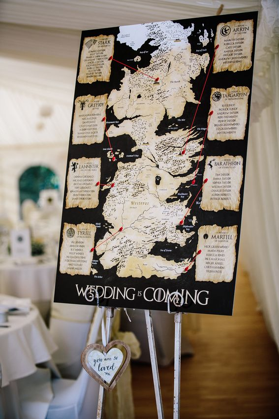 Game of Thrones Wedding Inspiration.... Romance is Coming ...
