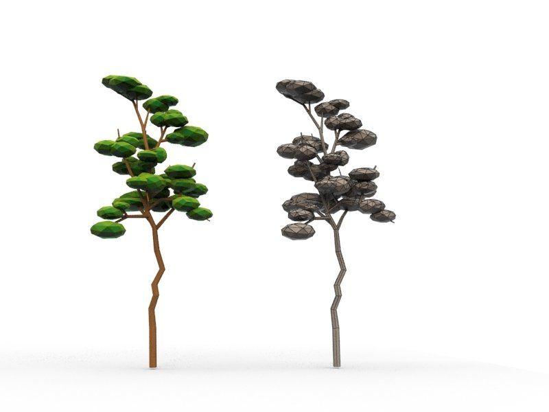 10 Low Poly Cartoon Tree | Cartoon trees, Oak tree ...