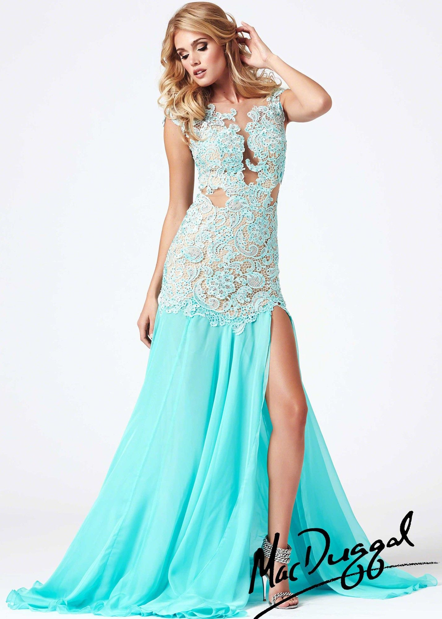 Mac Duggal 61041M Sexy Lace Dress | 2014 Prom Collection ...