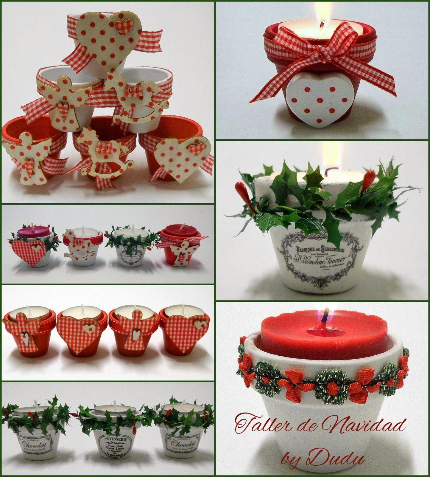 Algunas fotos del Taller que hicimos de decoración navideña. Yo me lo pasé genial y creo que no fui la única jeje. Desde aquí quiero ...