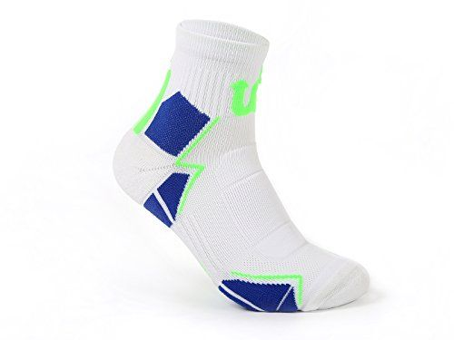 Basketball Softball baseball Athletic player cushioned crew socks with patented ankle support and heel protection design high stretch ability unisex free size Sports socks for athletes workout *** Want additional info? Click on the image.