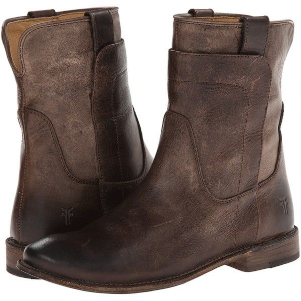 Frye Paige Short Riding (Slate Antique Pull Up) Women's Pull-on Boots (