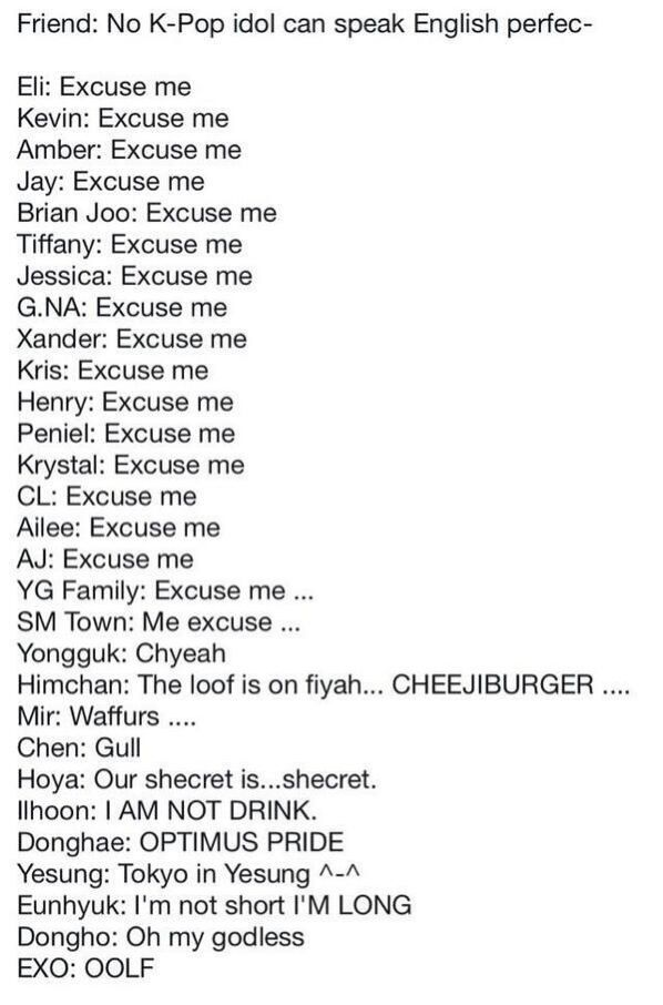 Lol Kpop Idols Who Speak English